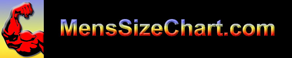 Men's Size Charts for Clothes with Measurments